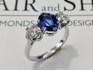 oval sapphire ring blair and sheridan