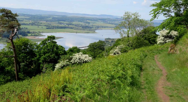 Balcony Trail above the River Clyde. Kilpatrick Hills