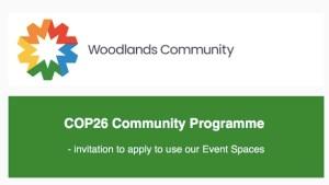 woodland cop 26 community programme event