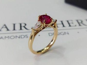 ruby diamond ring blair and sheridan