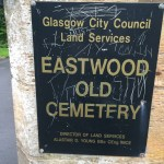 Glasgow City Council Land Services Sign