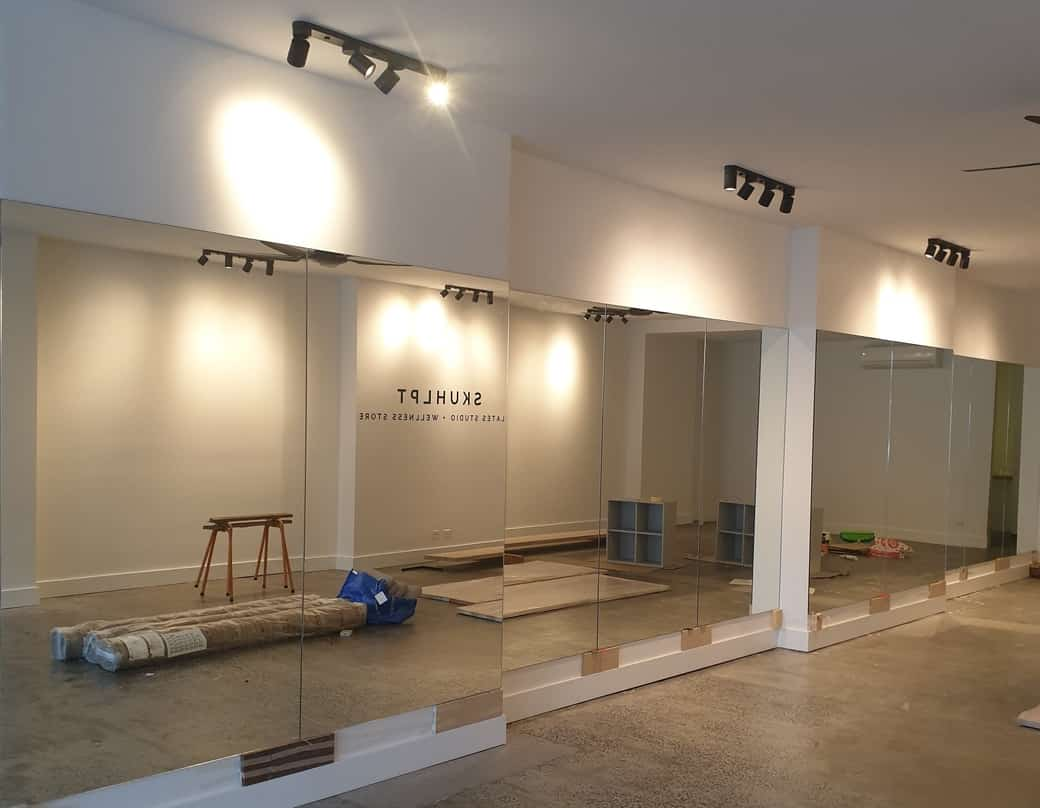 yoga pilates studio mirrors