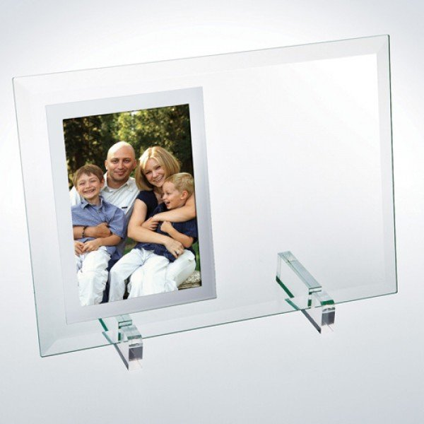 Beveled Glass Vertical Mirror Photo Frame