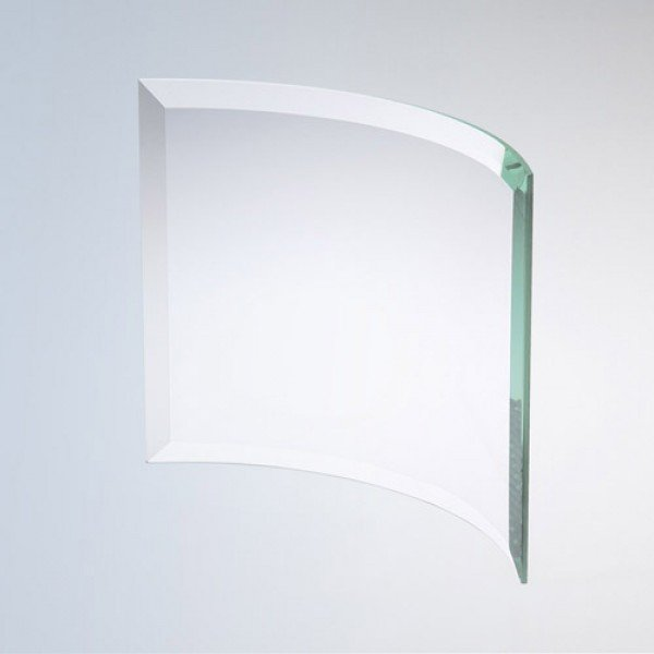 Bevelled Curved Rectangle  Jade