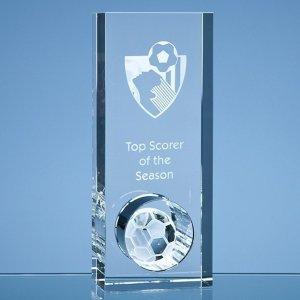 20cm Optical Crystal Football in the Hole Award