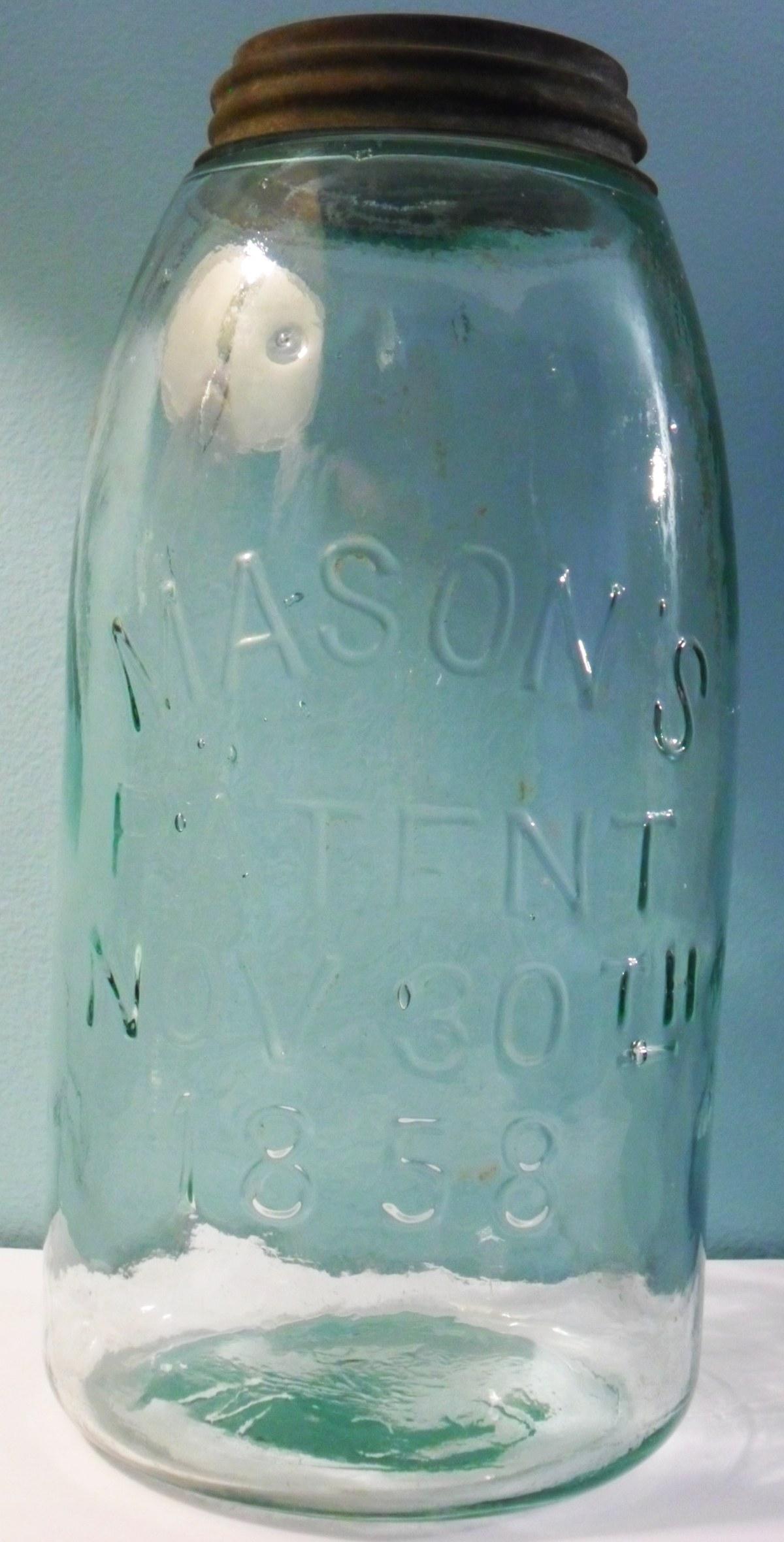 Mason's Patent Nov 30th 1858 fruit jars