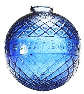 BOGARDUS brand glass target ball - cobalt blue glass