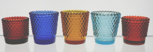 Group of 5 Hobnail Votive candle cups