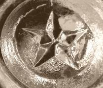 Star Glass Works star on base of A. Templeton ale bottle.