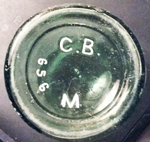 "Base of ""C.B.M. 656"" bottle, (photograph courtesy of Dee)"