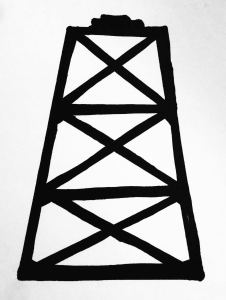 Oil City Glass Company - Oil Derrick logo