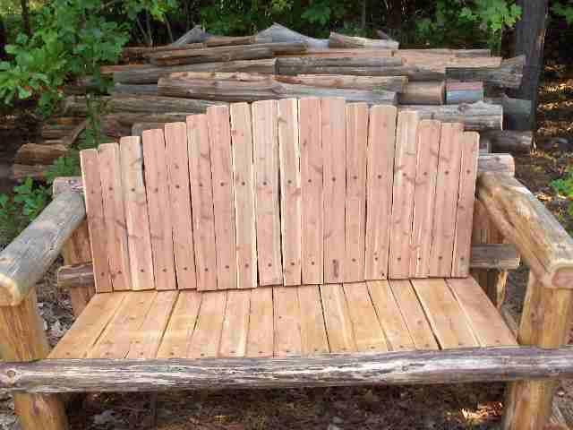 Rustic Log Bench Plans