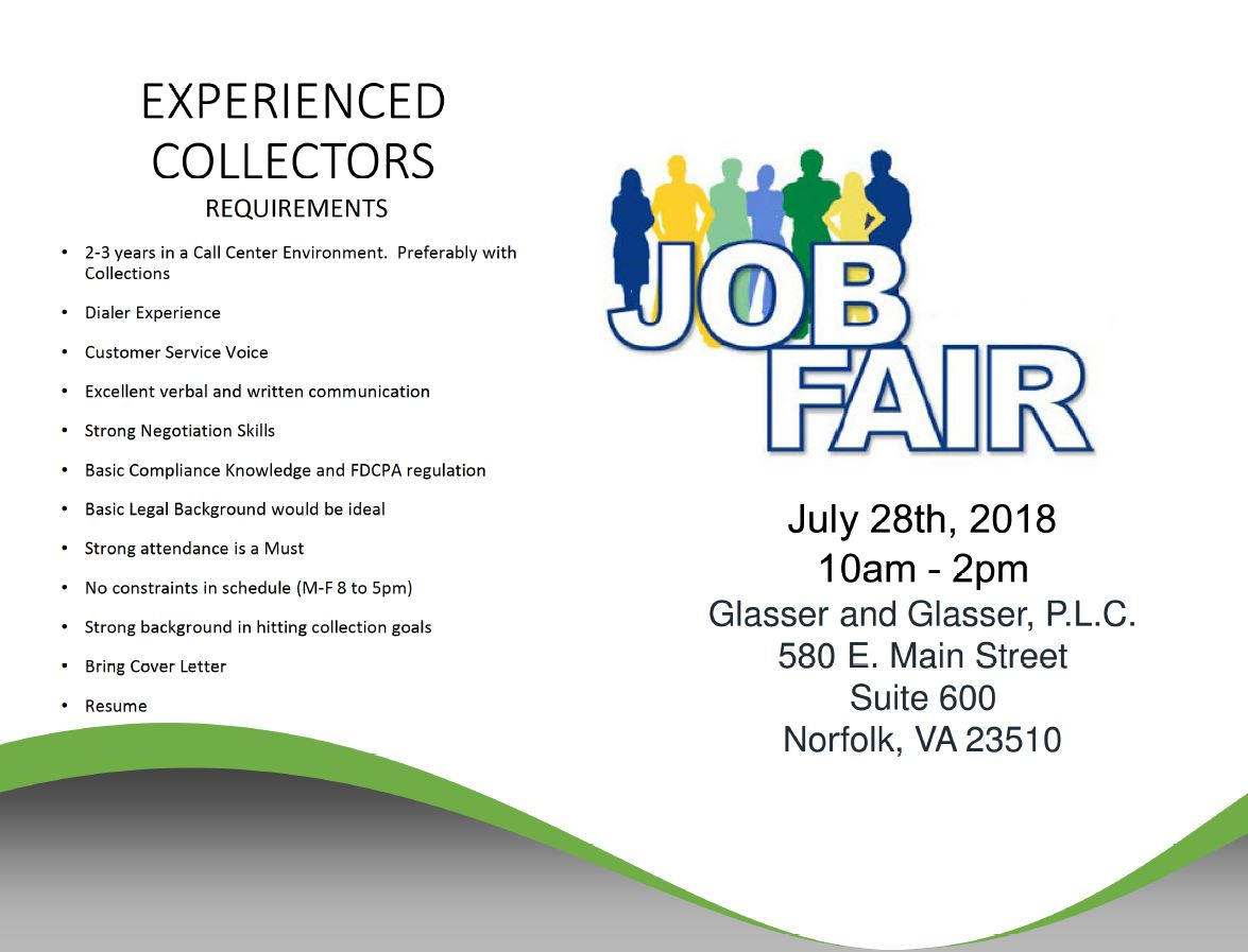 Job Fair 2018 - Glasser & Glasser P.L.C.