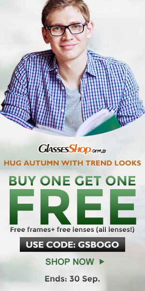Hug Autumn with trendy looks, BUY ONE GET ONE FREE at GlassesShop.com – USE GSBOGO