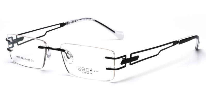 Kenya Black Eyeglasses Frames