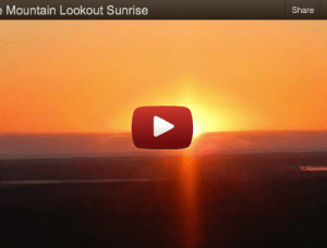A Wild Horse Mountain Lookout Sunrise