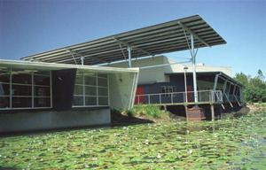 Beerwah Library on the water