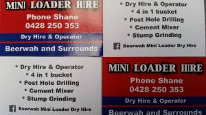 Shanes Mini Loader Hire