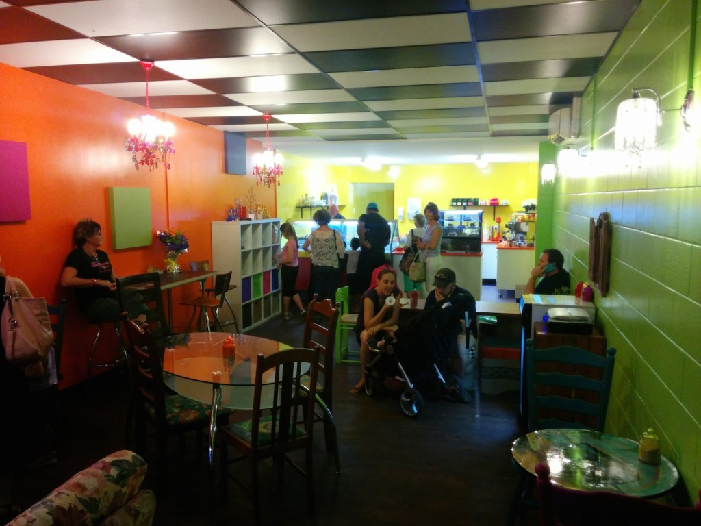 Inside the Kwerky Cafe Beerwah Street Party 2014