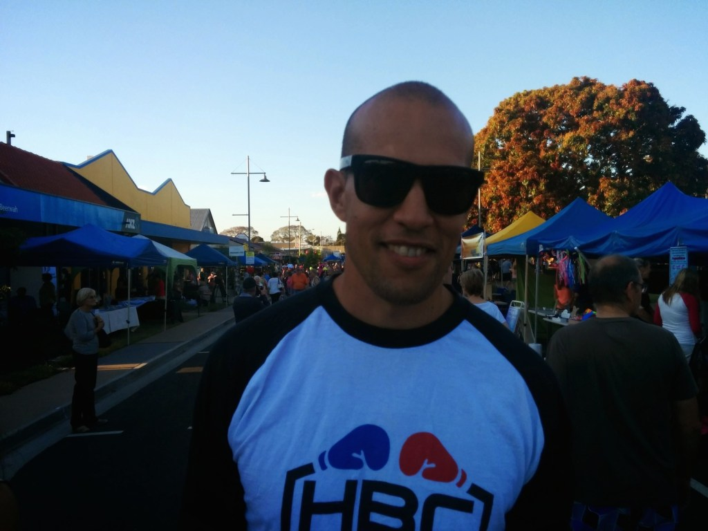 Steve Pitt from Hinterland Sports Shop at the Beerwah Street Party 2014