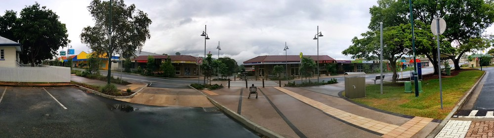 PANO of Simpson Street Road Frontage from Beerwah Station 2014