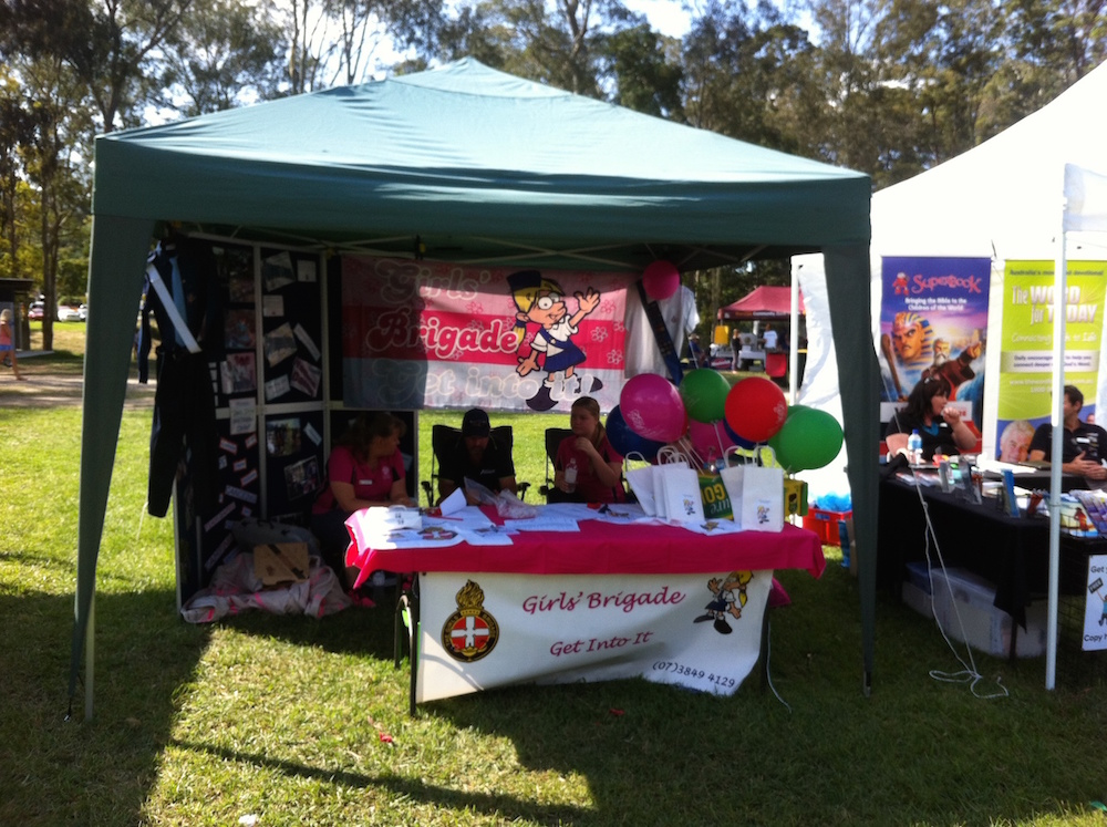 The Girls Brigade Tent at Moofest Mooloolah