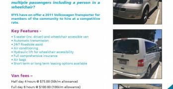 Inclusive Living Program: Community Van for Hire