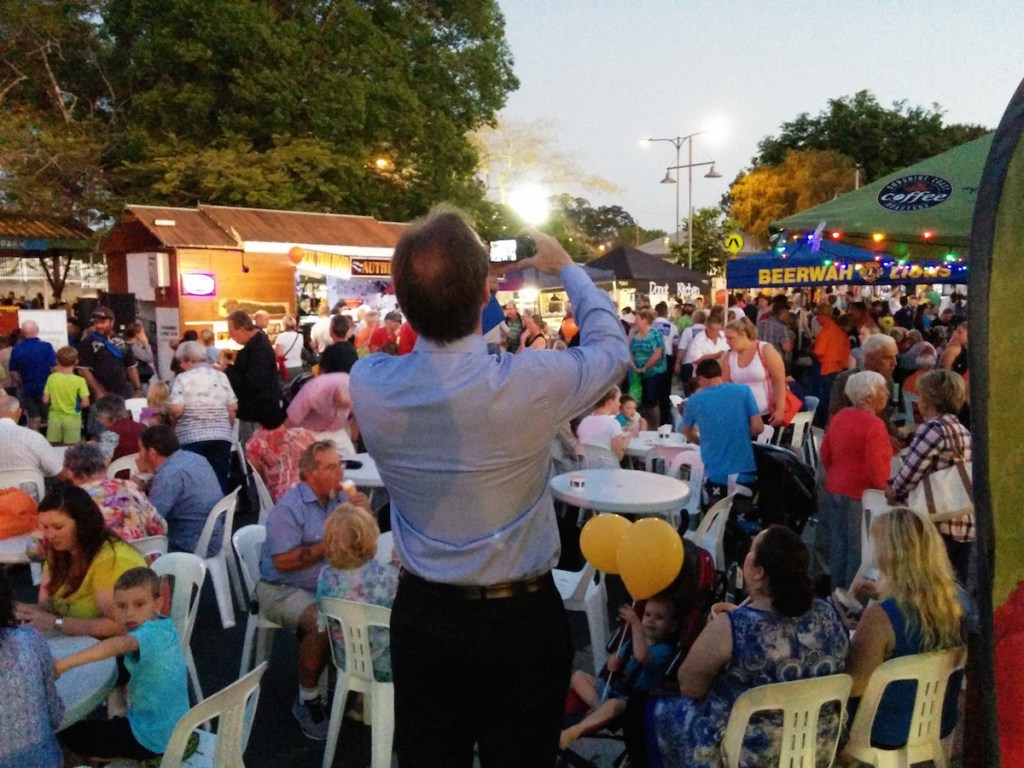 Cr Rick Baberowski at Beerwah Street Party 2015 - Beerwahs Favorite Counciler