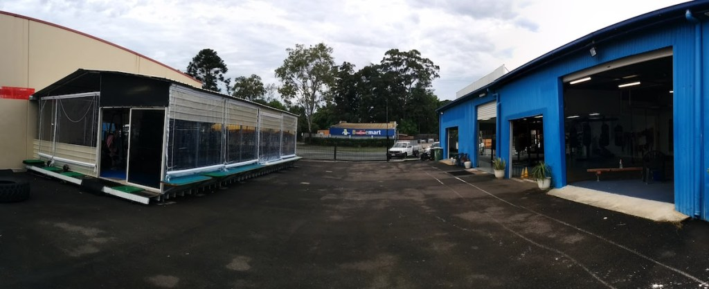 Beerwah Boxing Club Gym Courtyard and Boxing Ring