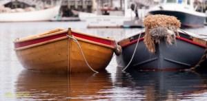 Row dingies in Camden, Maine. By Joe Clark.