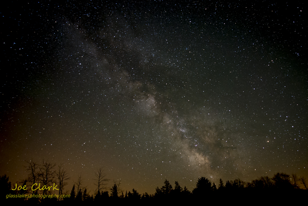 A view of the Milky Way cloud over Sleeping Bear Lakeshore, by Joe Clark www.glasslakesphotography.com