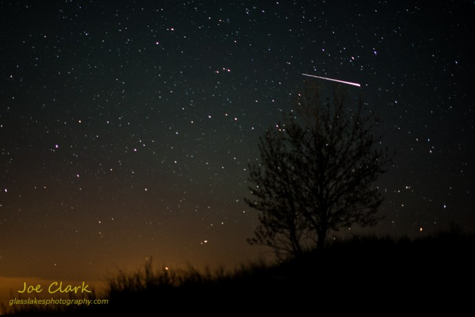 Camelopardalids Meteor in the Ludington State Park by Joe Clark www.glasslakesphotography.com