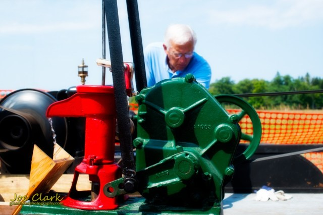 old engine operates at the Point Oneida Fair 2014, by Joe Clark glasslakesphotography.com