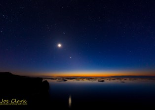 Stars over Lake Superior from the Michigan State Park Porcupine Mountains.