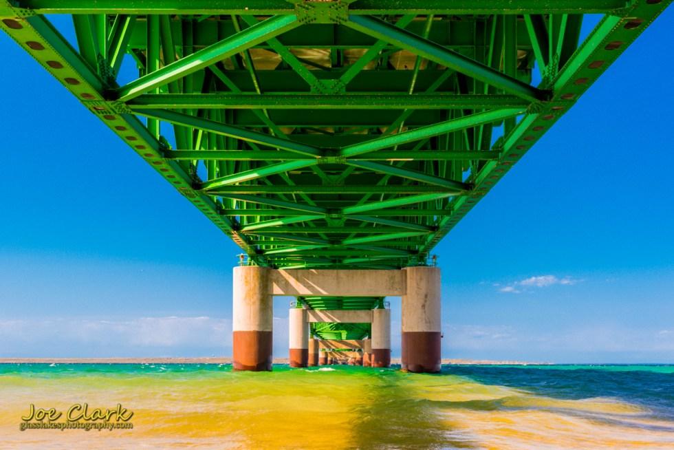 northern michigan photographer Joe Clark, Mackinaw bridge springtime