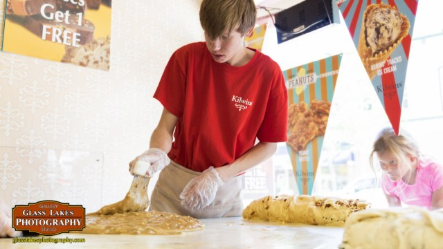 Fudge making at Kilwins downtown Petoskey mi