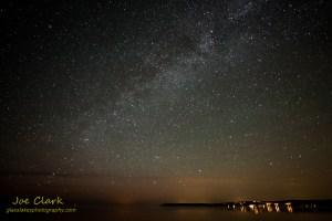 Milky Way over Sleeping Bear Bay. By Joe Clark.
