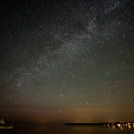 Milky Way over Sleeping Bear Bay. By Joe Clark.