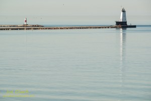 Ludington Lighthouse scenery. By Joe Clark.