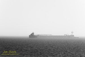 Hazy freighter. By Joe Clark.