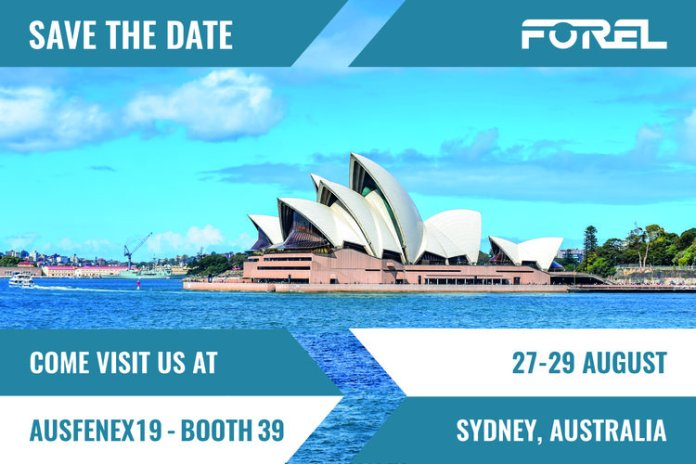 Forel will attend at AusFenEx19 in Sydney (Australia)