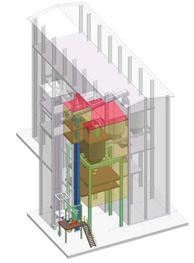 schott india glass factory upgrade Zippe furnace silica sand silo