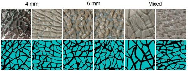 Samples of Tempered Glass Fragmentation
