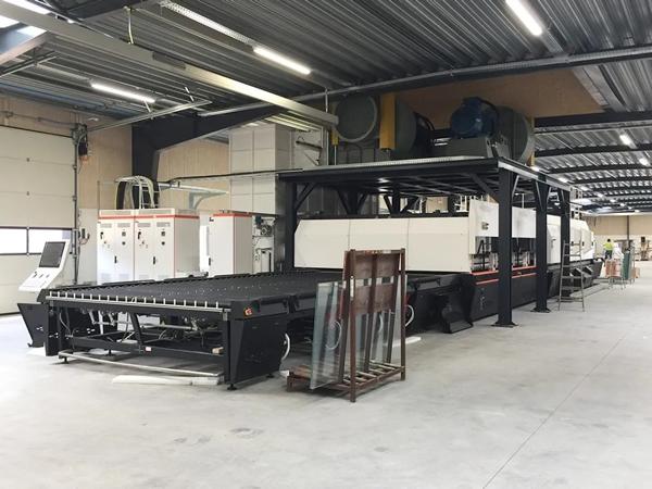 NorthGlass A-series Glass Tempering Furnace installed in Kjellerup, Denmark