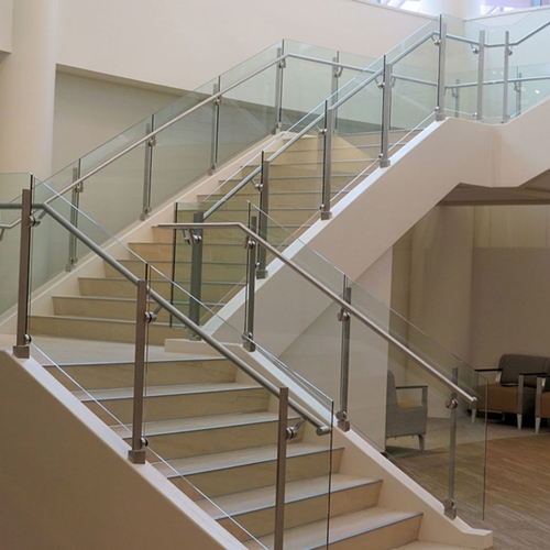 Stair Handrail Glass Glass Stair Balustrade Cost Curved Glass   Tempered Glass Stair Railing   Hand Rail   Glass Design   Toughened Glass   Staircase   Round Staircase