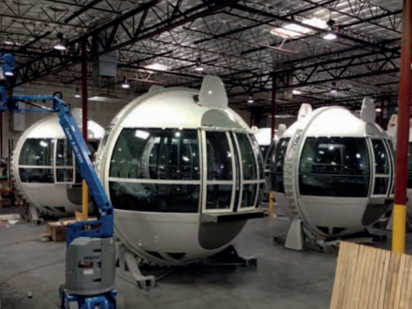 Image2: Capsules for the High Roller during assembly, Arup