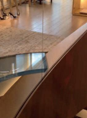 Image 8 Glass joint and cantilevering glass floor, Louis Vuitton lift shaft, Felix Weber