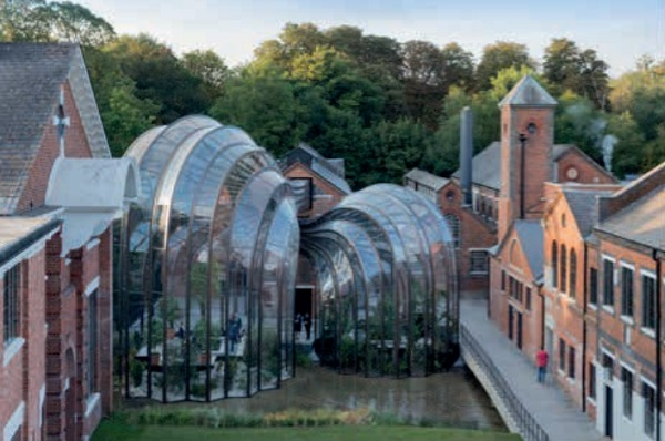 Image 9 Greenhouses for Bombay Sapphire, front elevation from courtyard © Iwan Baan