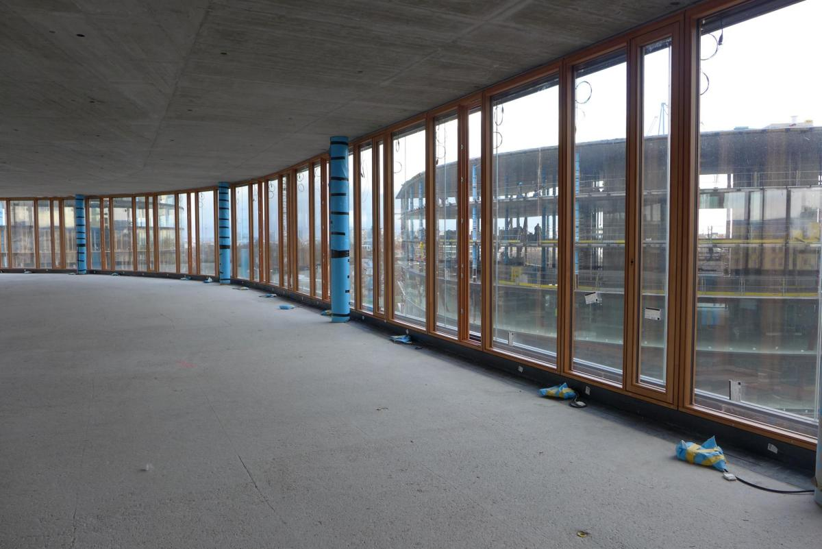Interior view wooden windows // © Henke Schreieck Architekten, Vienna
