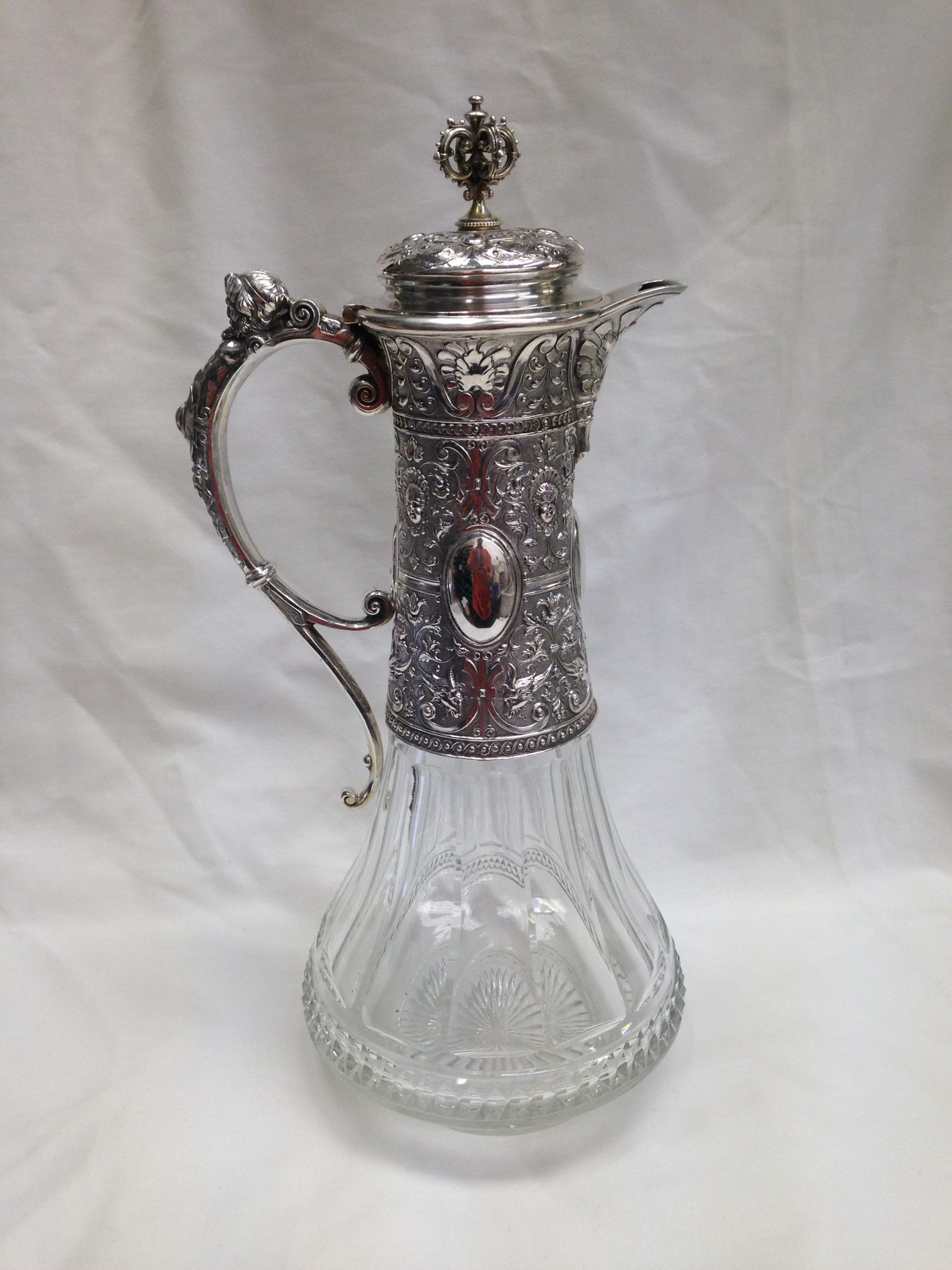 antique glass decanter repaired
